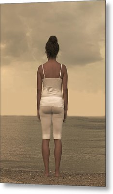 Woman On The Beach Metal Print by Joana Kruse