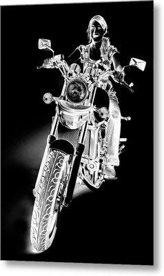 Woman Rider Metal Print