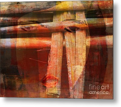 Woman Without Family - Femme Sans Famille Metal Print by Fania Simon