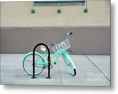 Woman's Bicycle  Metal Print by Ed Rooney