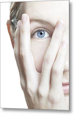 Woman's Eye Metal Print by