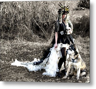 Women Who Run With Wolves Metal Print by Nyla Alisia