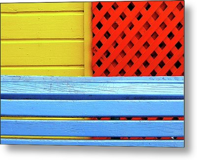 Wood And Colors Metal Print by by Felicitas Molina