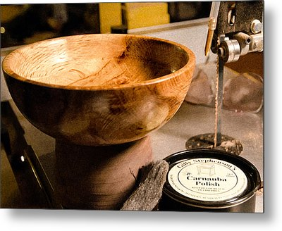 Metal Print featuring the photograph Wood Bowl by Gary Rose