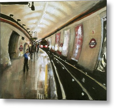 Wood Green Tube Station Metal Print by Paul Mitchell