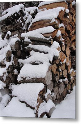 Metal Print featuring the photograph Wood Pile by Tiffany Erdman