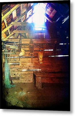 Wood Shed Metal Print by Jeff Ford
