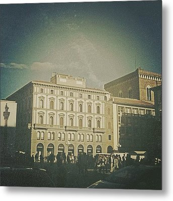#woodcamera #florence #iphoneography Metal Print by Andrea Bigiarini