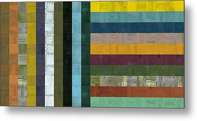 Wooden Abstract Vl  Metal Print by Michelle Calkins