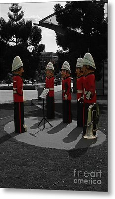 Metal Print featuring the photograph Wooden Bandsmen by Blair Stuart