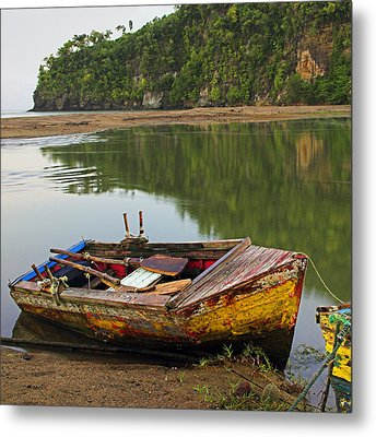 Metal Print featuring the photograph Wooden Boat- St Lucia by Chester Williams