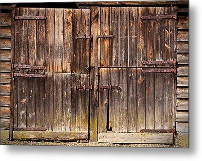 Wooden Door Metal Print by Tom Gowanlock