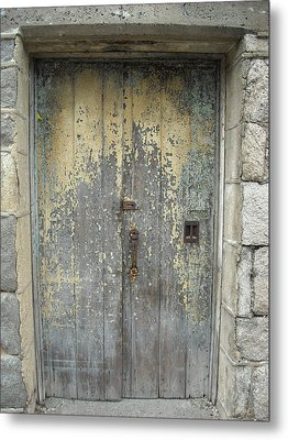 Wooden Doors Metal Print by Christophe Ennis