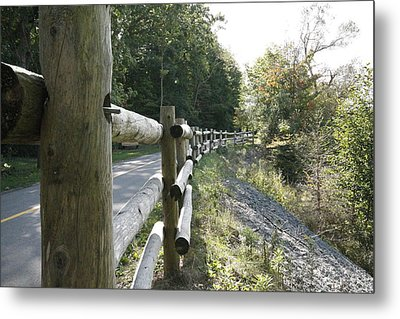 Wooden Fence Metal Print by Philip Porteus
