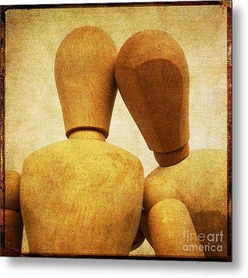 Wooden Figurines Metal Print by Bernard Jaubert