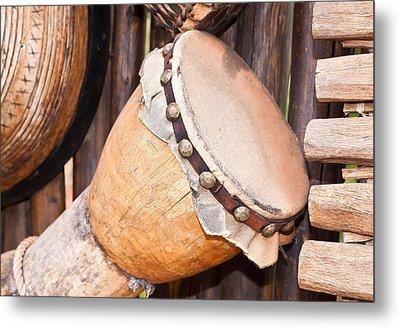 Wooden Instruments Metal Print