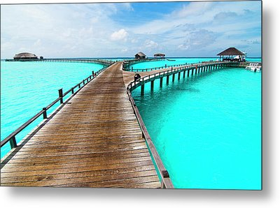 Wooden Jetty Metal Print by Luismaxx