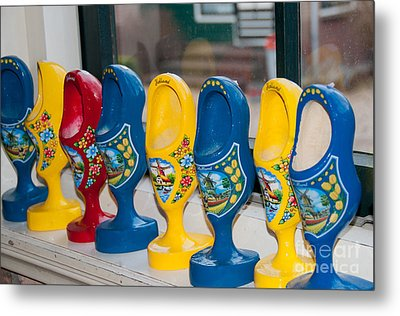 Metal Print featuring the digital art Wooden Shoes by Carol Ailles