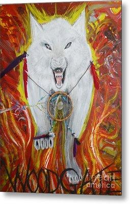 Woodgate Spirit Wolf Metal Print by Matt Gregor