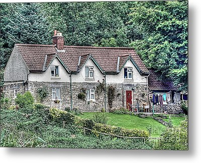 Woodkeepers Cottage Metal Print