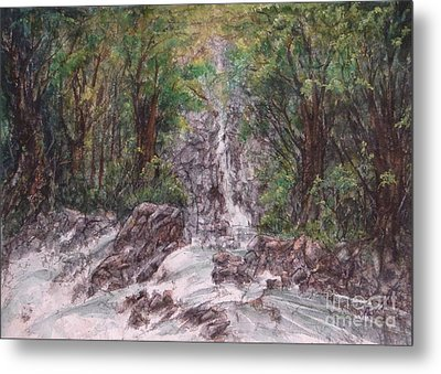 Woodland Falls Metal Print by Ronald Tseng