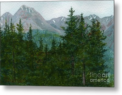 Woodland Overlook Metal Print by Vikki Wicks