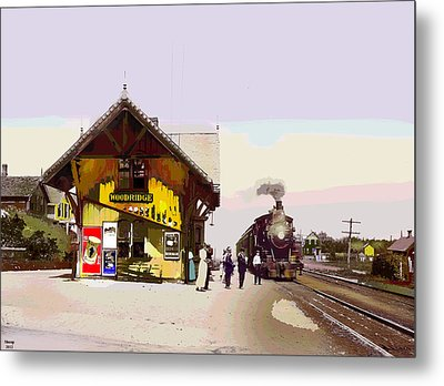 Woodridge Depot Metal Print by Charles Shoup