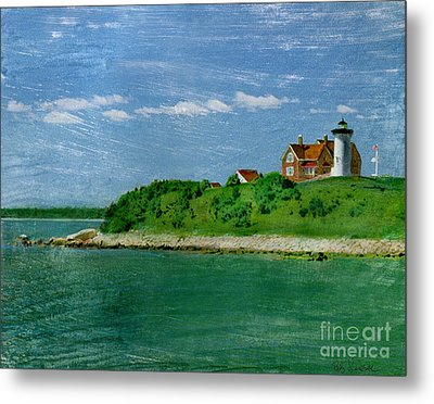 Woods Hole Lighthouse Metal Print by Bob Senesac