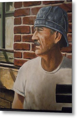 Metal Print featuring the painting Worker At Union Switch And Signal by James Guentner