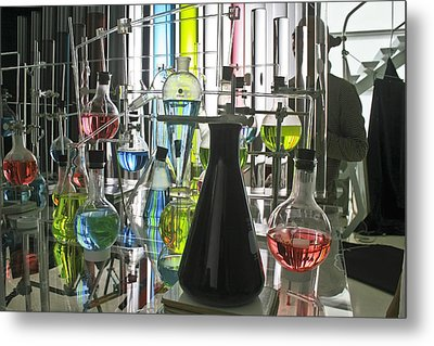 Working Laboratory Metal Print by Kantilal Patel