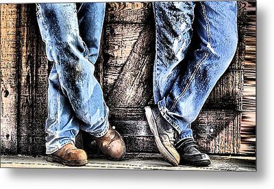 Working Shoes Metal Print by Kenneth Mucke