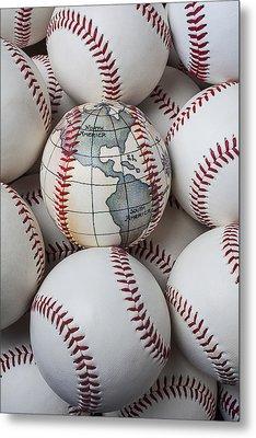 World Baseball Metal Print