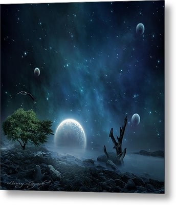 World Beyond Metal Print by Lourry Legarde