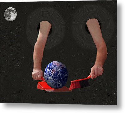 World Corruption  Metal Print