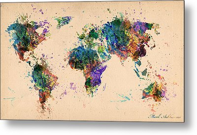 World Map 2 Metal Print