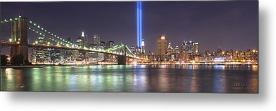 World Trade Center Tribute Lights Metal Print
