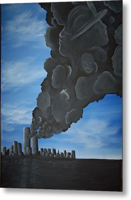 World Trade Memorial Painting Metal Print by Hollie Leffel