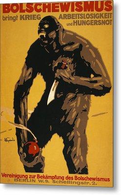 World War I, Bolshevism, German Poster Metal Print by Everett