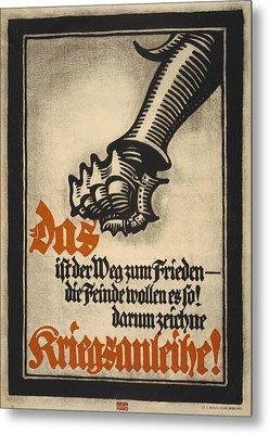 World War I, German Poster Depicting Metal Print by Everett