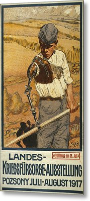 World War I, German Poster Shows Metal Print by Everett