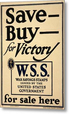 World War I, Poster - Save - Buy - Metal Print by Everett