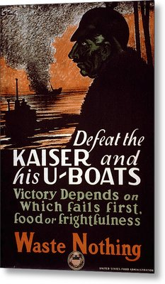 World War I, Poster Showing A Dark Metal Print by Everett