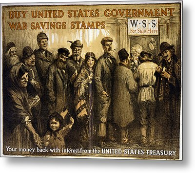 World War I, Poster Showing A Variety Metal Print by Everett