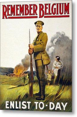 World War I, Recruitment Poster Poster Metal Print by Everett