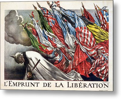World War I, The Liberation Loan Metal Print by Everett