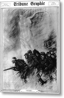 World War I, The Tribune Graphic Metal Print by Everett