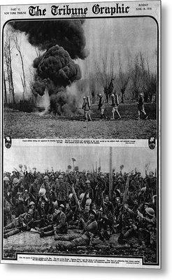 World War I, The Tribune Graphic, Top Metal Print by Everett