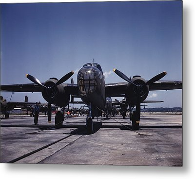 World War II, B-25 Bomber Planes Metal Print by Everett