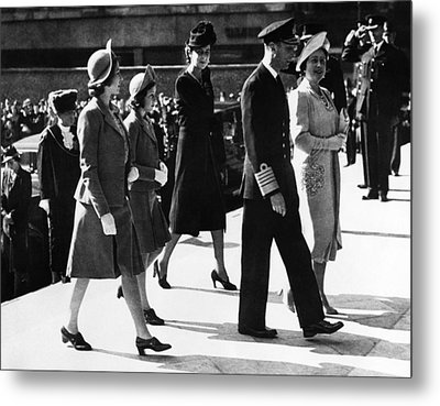 World War II. From Left Future British Metal Print by Everett