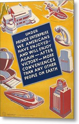World War II Poster Reassuring Metal Print by Everett